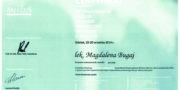 Zertifikat - Magdalena Bugaj