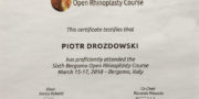 Zertifikat - Piotr Drozdowski