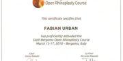 Fabian Urban - Zertifikat - Bergamo 2017
